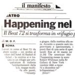 Il manifesto- M.De Feo