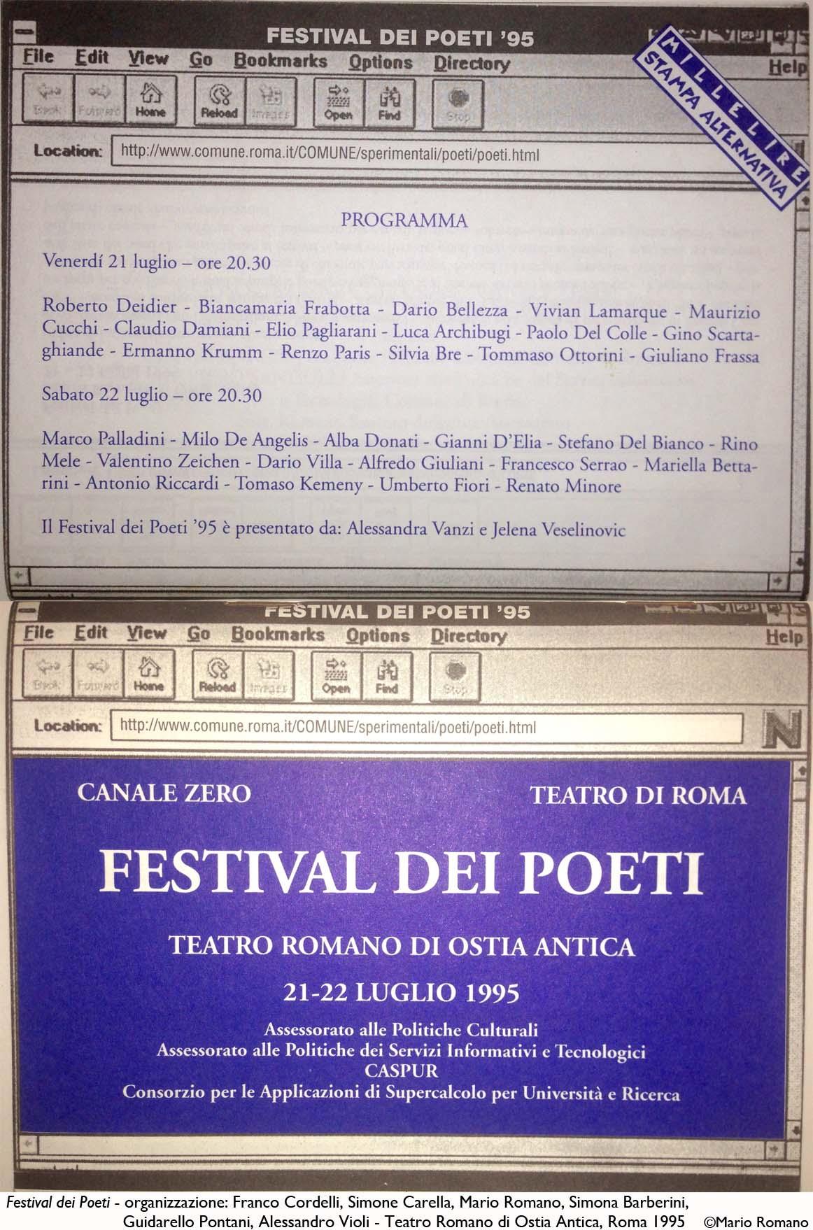 Festival dei Poeti_programma-1995
