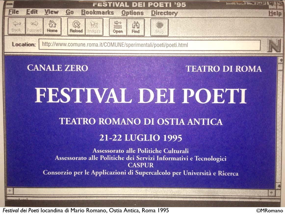 Locandina Festival dei Poeti_1995_©MRomano