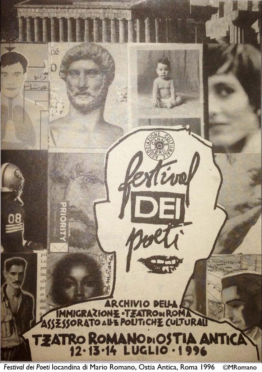 Locandina Festival dei Poeti_1996_©MRomano