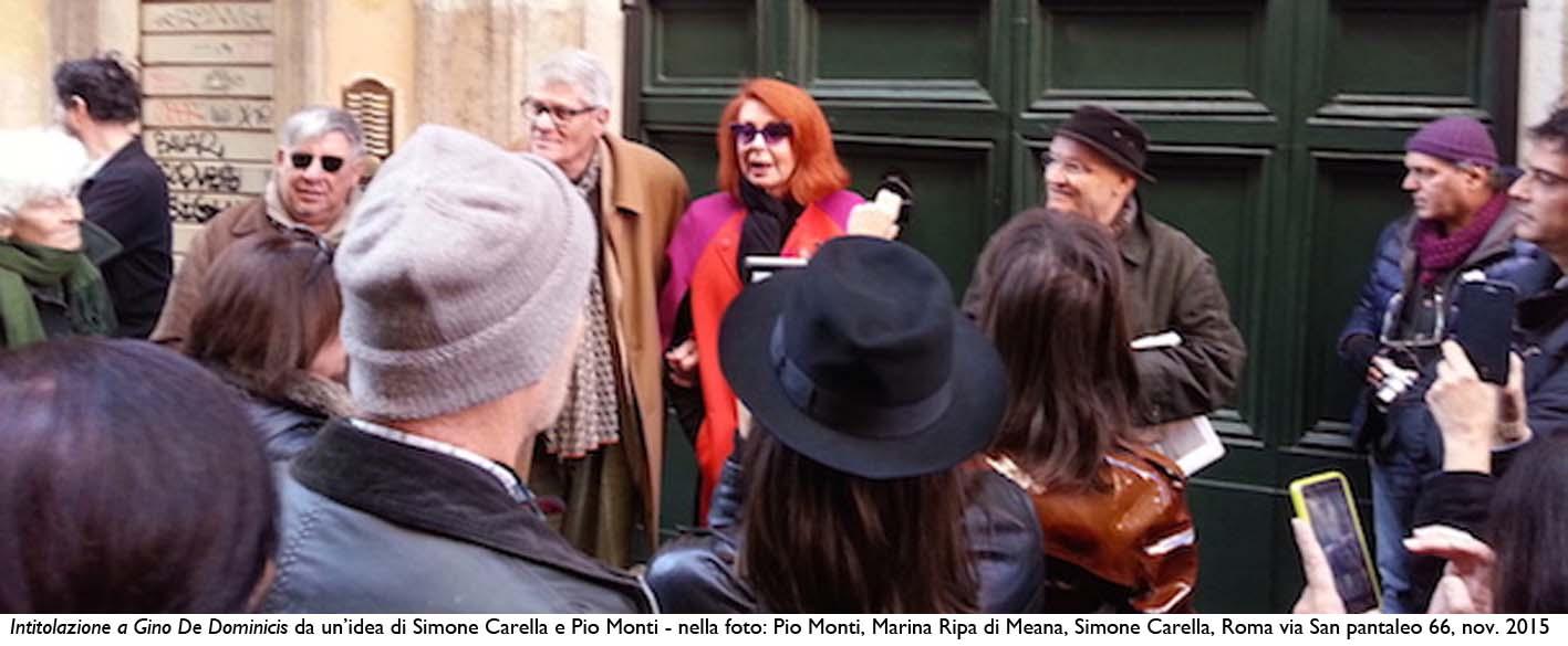 Pio Monti, Simone Carella, Marina Ripa di Meana_Intitolazione a Gino De Dominicis_2015