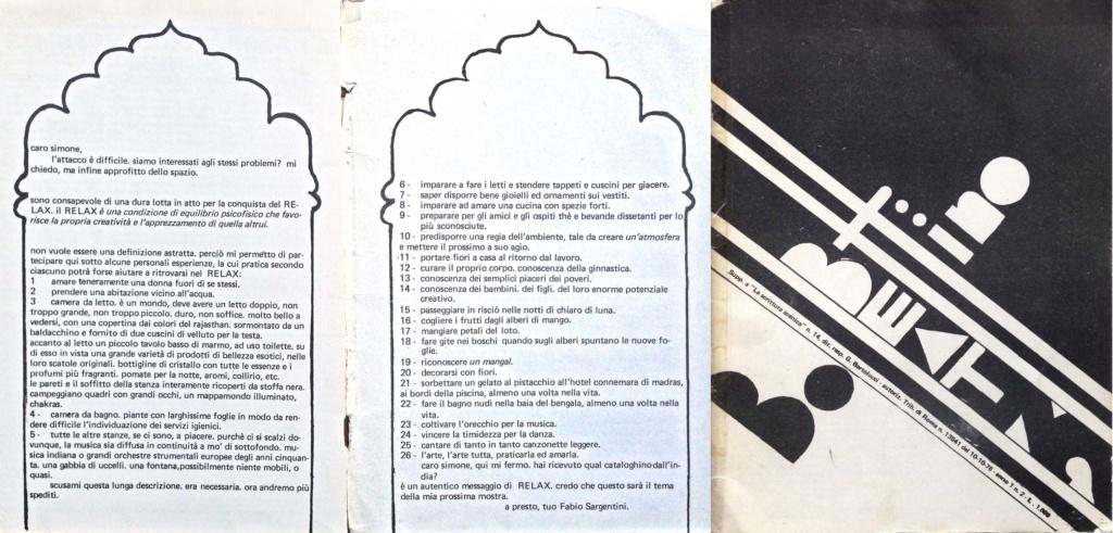 Scrittura scenica n.14, 1976 - Fabio Sargentini lettera a Simone Carella