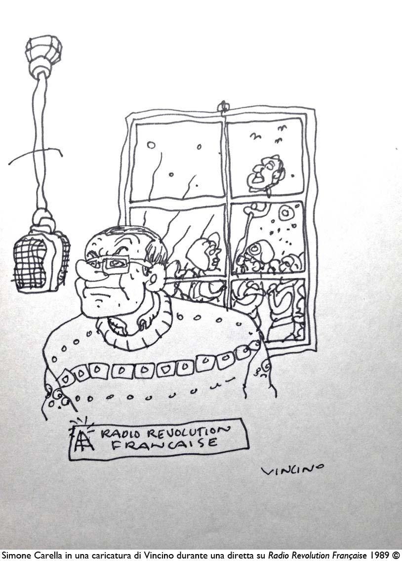 Vincino per Simone Carella a RadioRF-89