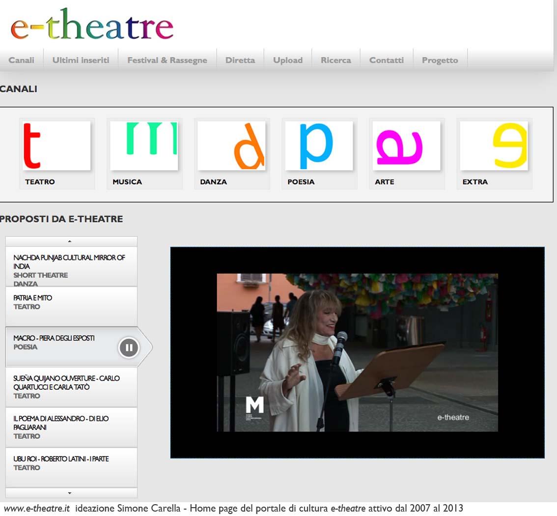 e-theatre Home page