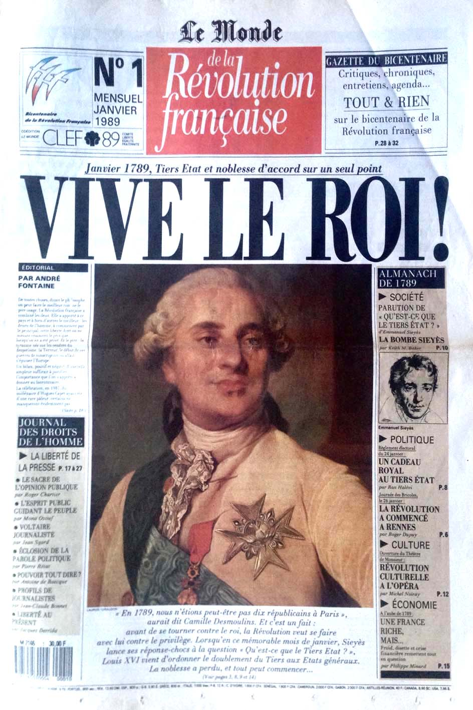 Giornale di Radio Revolution Française N°1