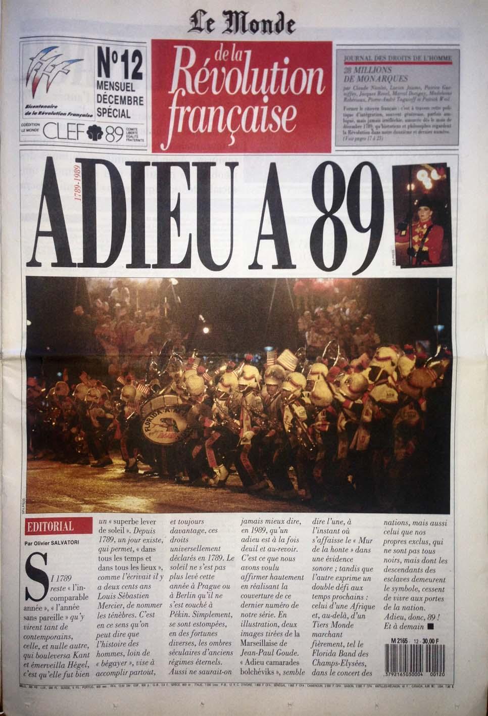 Giornale di Radio Revolution Française N°12