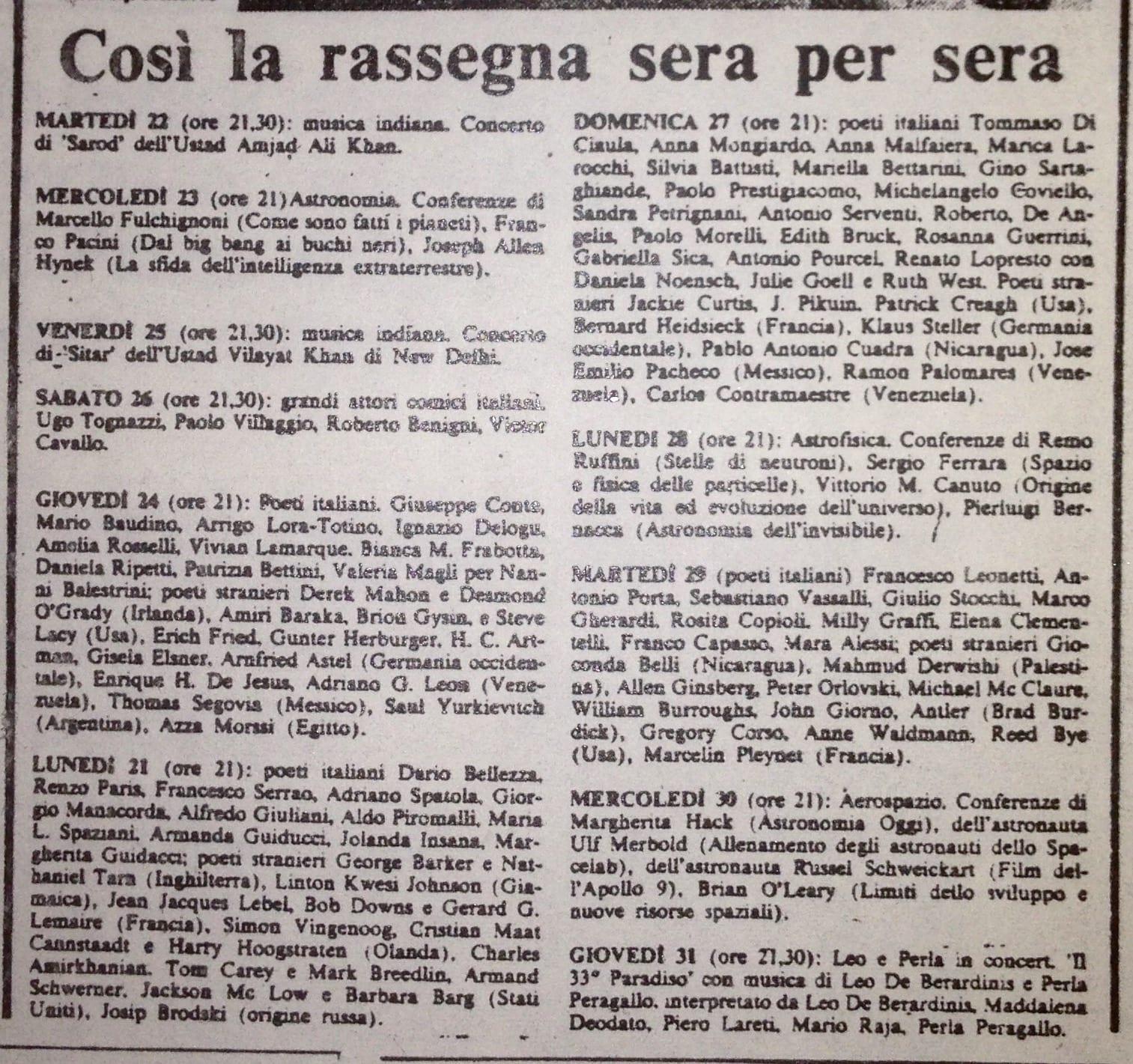 Festival dei Poeti_Piazza Siena_1980_elenco partecipanti-min